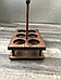 Дерев'яний Дегустаційний пивний набір на 6 келихів, фото 2