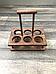 Дерев'яний Дегустаційний пивний набір на 6 келихів, фото 3