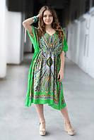 Летнее пляжное платье средней длины