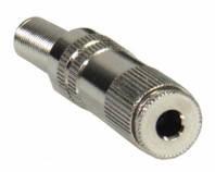 Гнездо стерео 3.5 Jack (3 pin) металлическое на кабель