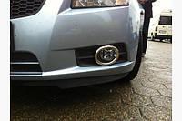 Хром накладки на противотуманки Chevrolet Cruze (Шевроле Круз)