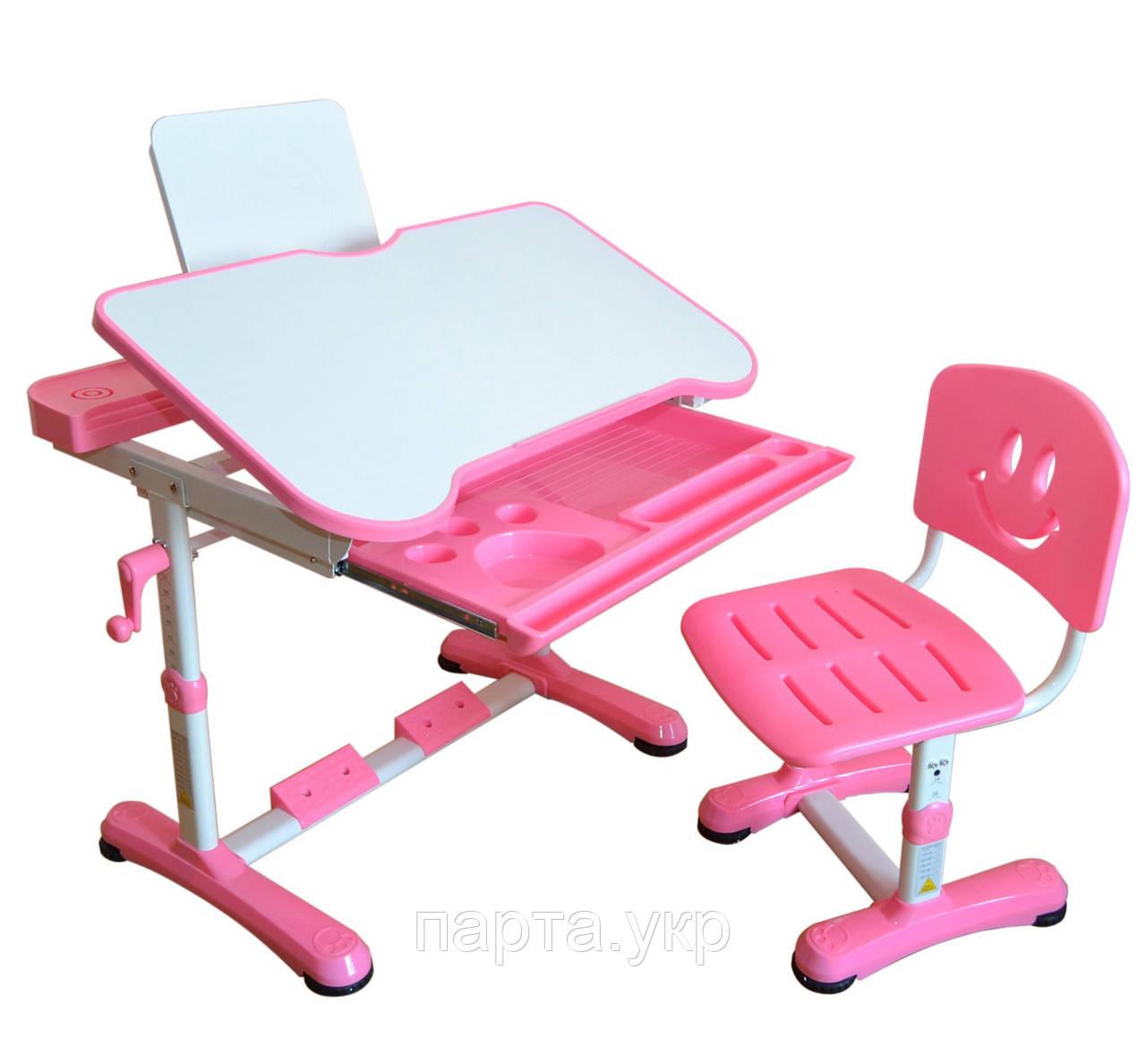 Парта трансформер и стул Смайл столешница 80см, 2 цвета