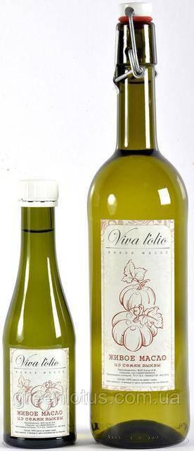 Тыквенное масло Viva l'olio, 1 л, холодный отжим