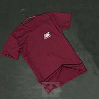 Мужская футболка New Balance красного цвета (люкс копия) 8268c9b06fb