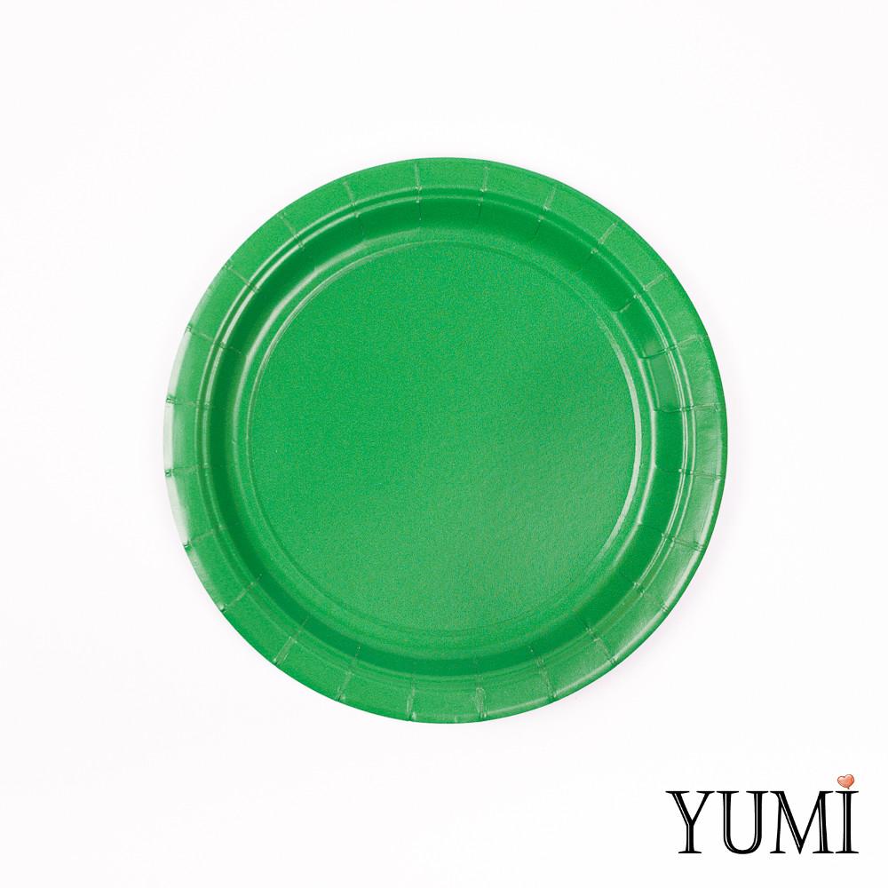 Тарелка картон Festive Green 17см / 8 шт. Amscan