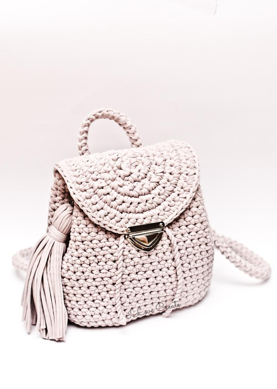 7a97ab4af399 Видео мастер класс Круизный рюкзак из трикотажной пряжи - Вязанные сумки,  схемы и видео-