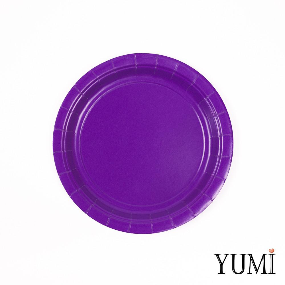 Тарелки картон  Purple фиолетовые 17см / 8 шт. Amscan