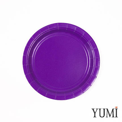 Тарелки картон  Purple фиолетовые 17см / 8 шт. Amscan, фото 2