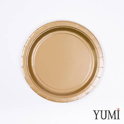 Тарелки картон Gold золото 17см / 8 шт., фото 2