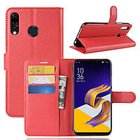 Чехол Asus Zenfone 5 / 5z / ZE620KL / ZS620KL / 1H013WW / 2A052WW 6.2'' книжка PU-Кожа красный