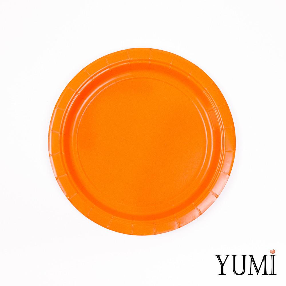 Тарелки картон Orange Peel 17см / 8 шт. Amscan