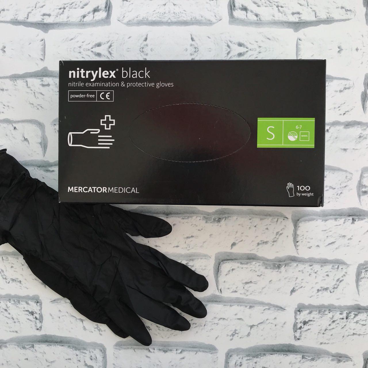 Перчатки  Mercator Medical NITRYLEX BLACK