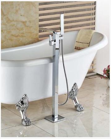 Стойка напольная для ванной комнаты в хроме 8-014