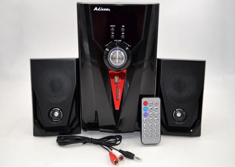 Компьютерные колонки + сабвуфер 2.1 AiLiang USBFM-F35DC-DT (2x3 Вт + 1