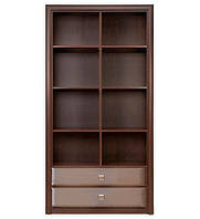 Книжный шкаф Гербор Коен REG 2S (N) 103,5х200,5х40 венге магия/штрокс темный, фото 1