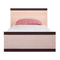 Кровать односпальная Gerbor Кармен+ламель 90х200 венге магия/дуб родос, фото 1