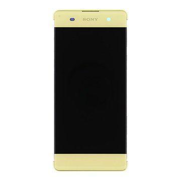 Дисплей для Sony F3111 Xperia XA/F3112/F3113/F3115/F3116  с тачскрином золотистый, Lime Gold Оригинал