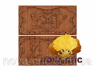 Резные деревянные нарды 2