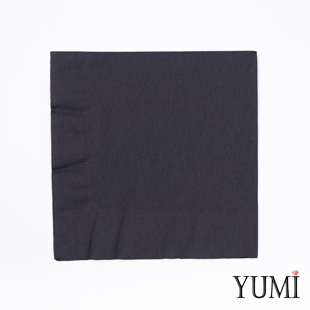 Салфетка Black черная 33 см / 20 шт