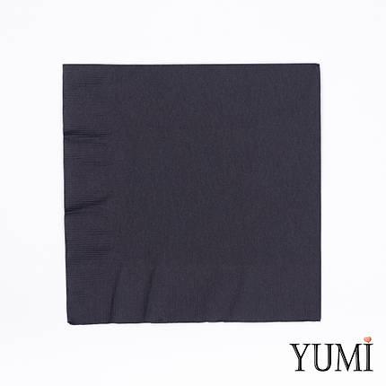 Салфетка Black черная 33 см / 20 шт, фото 2