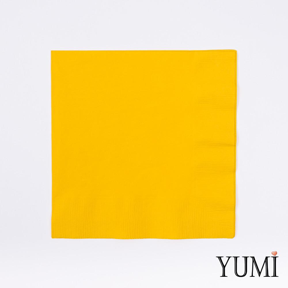 Салфетка Sunshine Yellow желтая 33 см / 20 шт