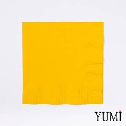 Салфетка Sunshine Yellow желтая 33 см / 20 шт, фото 2