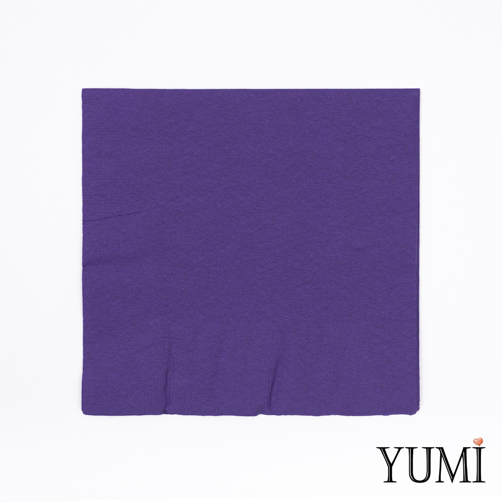 Салфетка Purple фиолетовая 33 см / 20 шт