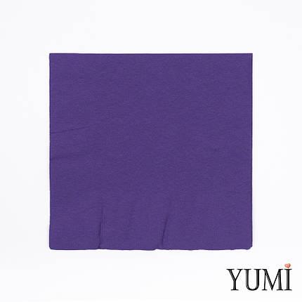 Салфетка Purple фиолетовая 33 см / 20 шт, фото 2