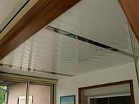 Потолки алюминиевые реечные подвесные белый матовый серебро металлик