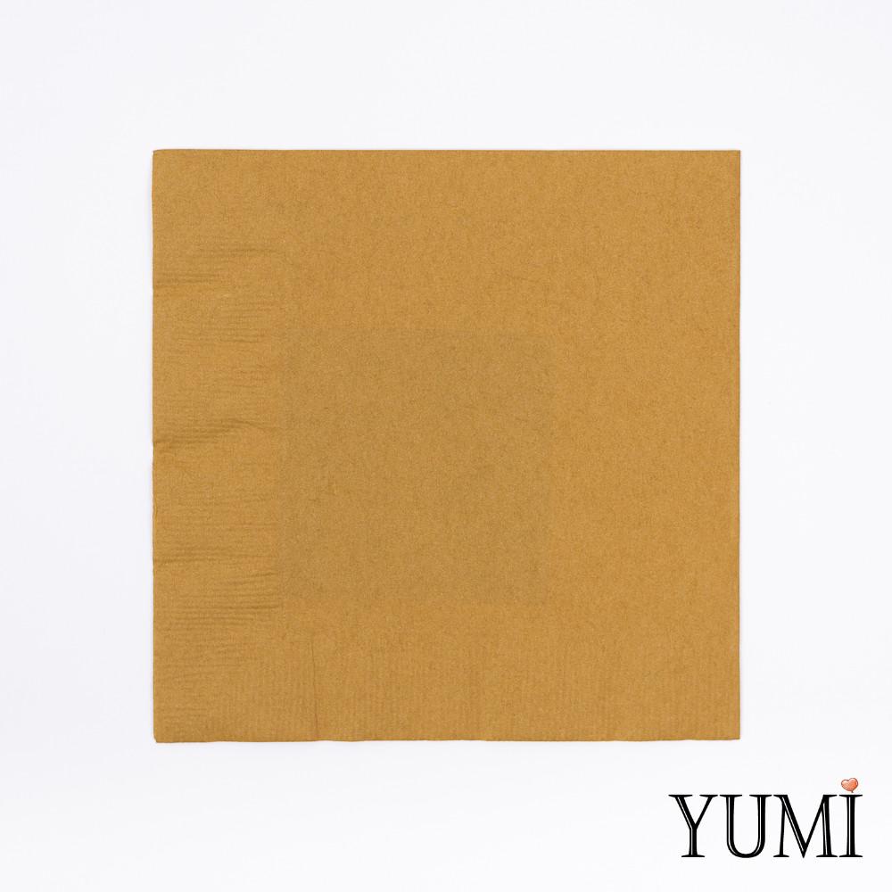 Салфетка Gold золотая 33 см / 20 шт
