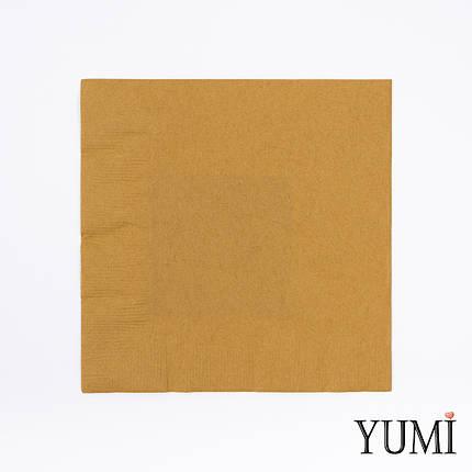 Салфетка Gold золотая 33 см / 20 шт, фото 2