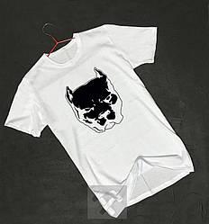 Мужская футболка Staff белого цвета (люкс копия)