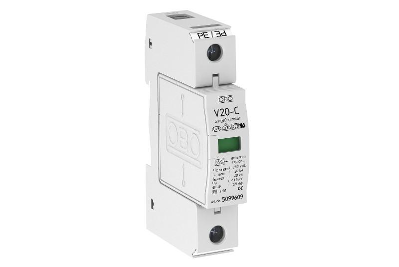 5094618 Разрядник для защиты от перенапряжений 1-полюсный (УЗИП), V20-C 1-280 OBO Bettermann (Германия)