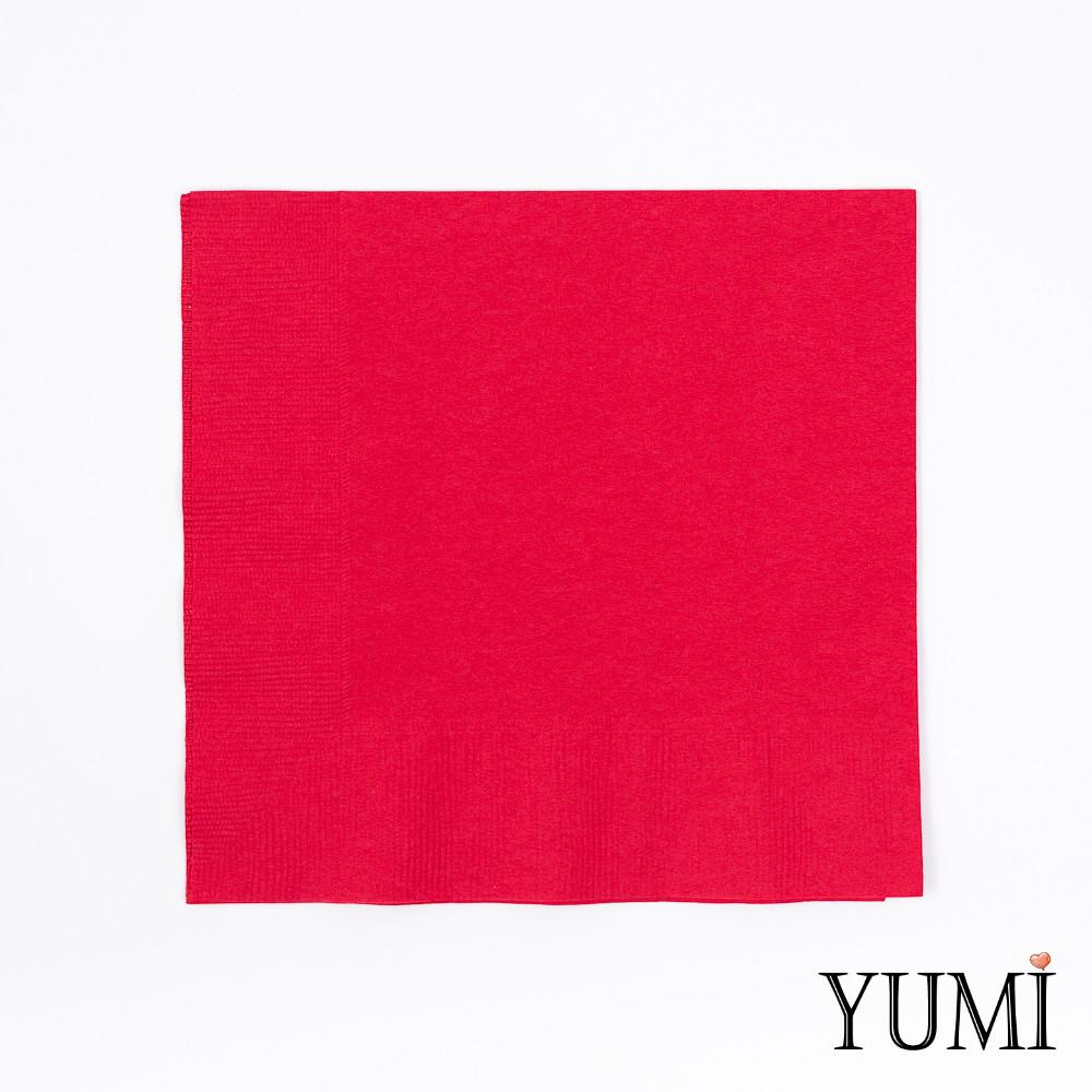 Салфетка Apple Red красная 33 см / 20 шт