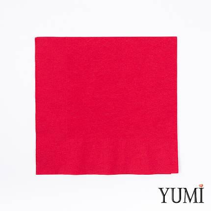 Салфетка Apple Red красная 33 см / 20 шт, фото 2