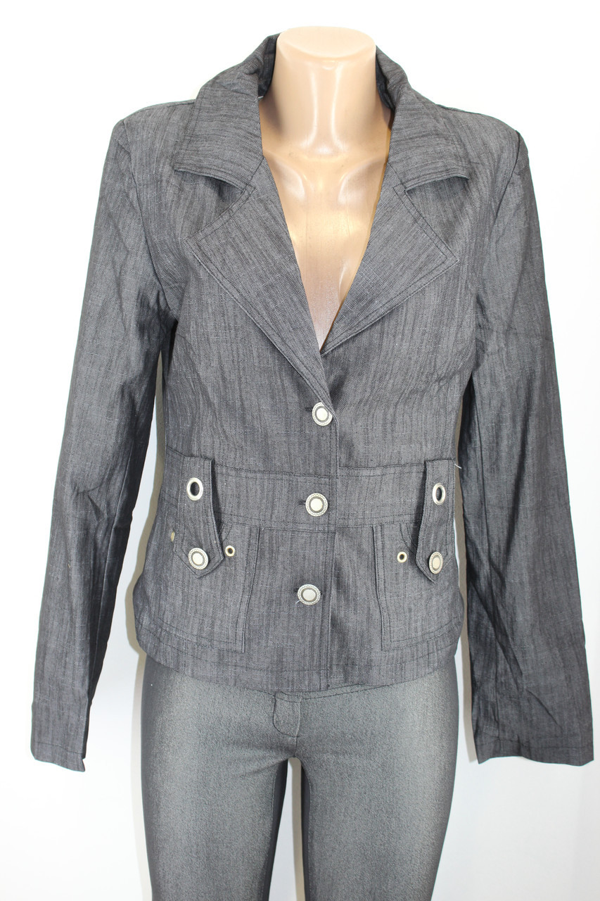 Пиджак женский джинсовый 886 Уценка!!!