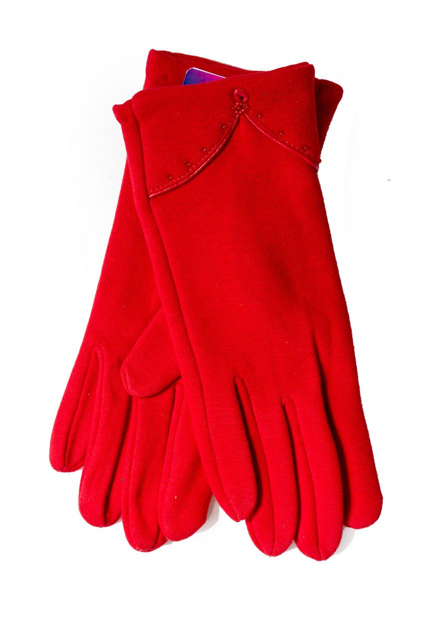 Женские стрейчевые перчатки Красные 120S2