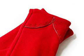 Женские стрейчевые перчатки Красные 120S2, фото 2