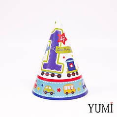 Колпак 16 см 1-ый День рождения Мальчик