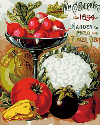 AS0305 Набор-раскраска по номерам Овощное разнообразие, фото 2