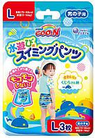 Трусики-подгузники для плавания GOO.N для мальчиков 9-14 кг, ростом 70-90 см размер L, 3 шт (853466)