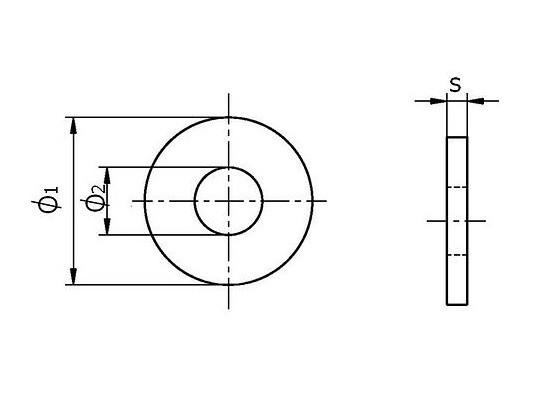 Схема оцинкованный увеличенной шайбы поDIN 9021