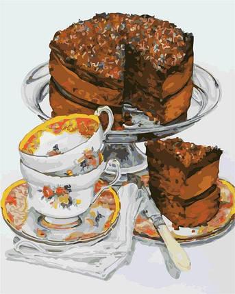 AS0308 Набор-раскраска по номерам Шоколадный тортик, фото 2