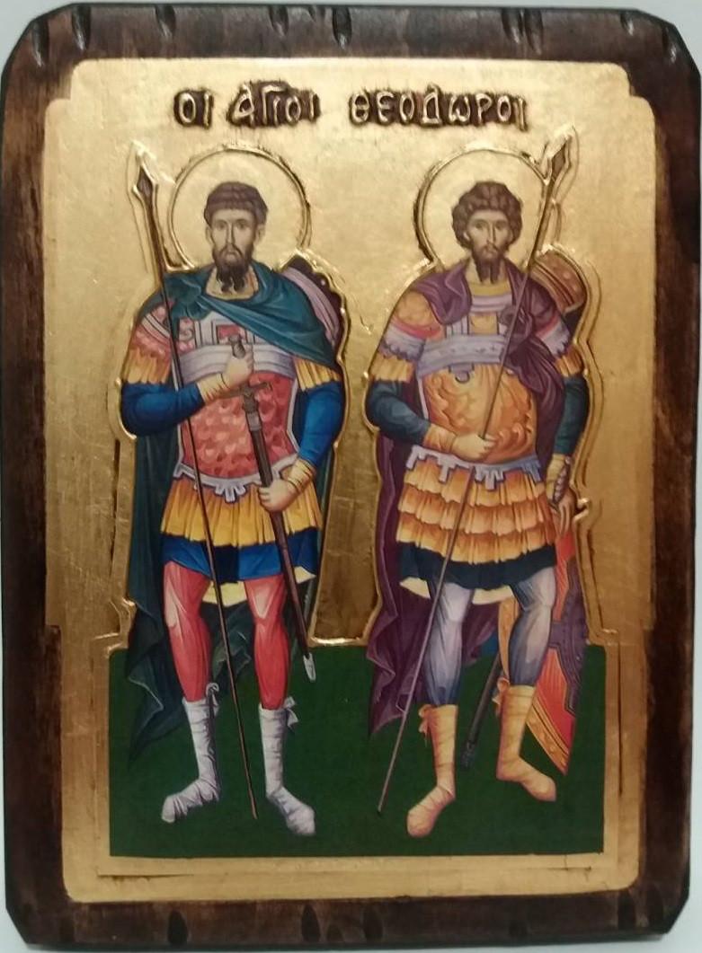 Икона Святые Федор и Феодор