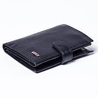 Мужской кошелек кожаный черный BUTUN 186-004-001