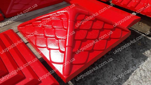 Крышка для забора LAND BRICK Дания красная 450х450 мм