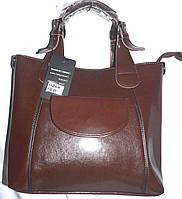 9797a06e54ac Женская каштановая сумка класса Люкс с длинным ремешком на плечо 30*27 см
