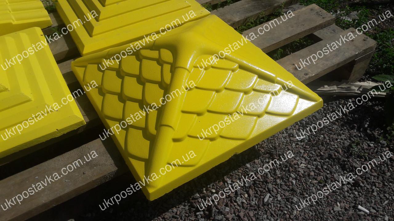 """Крышка для забора LAND BRICK """"Дания"""" желтая 450х450 мм"""