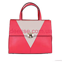 Элегантная красная сумка из натуральной кожи De Esse