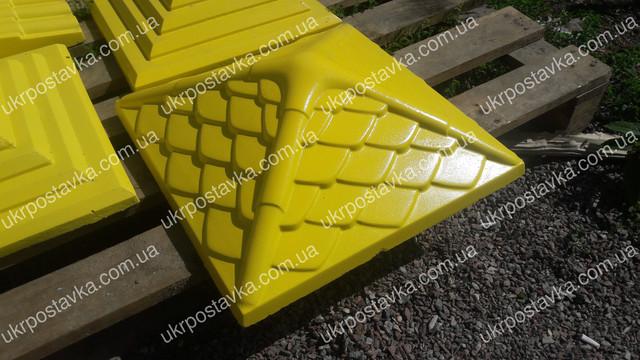 Крышка для забора LAND BRICK Дания желтая 450х450 мм